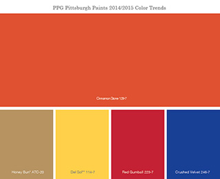 Energetic Colors ppg pittsburgh paints 2014 color of the year - ppg - paints
