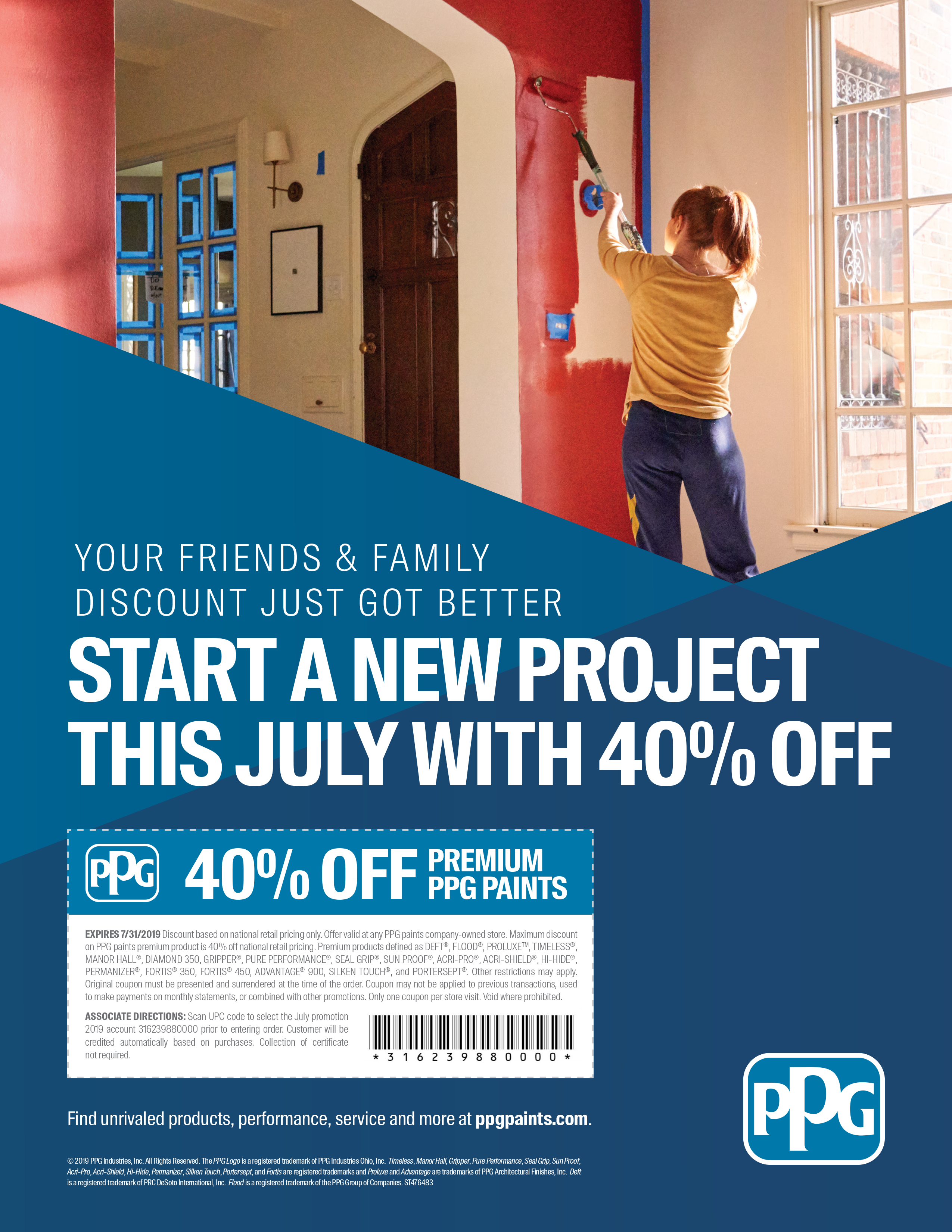 PPG FRIENDS AND FAMILY DISCOUNT - PPG - Paints, Coatings and Materials