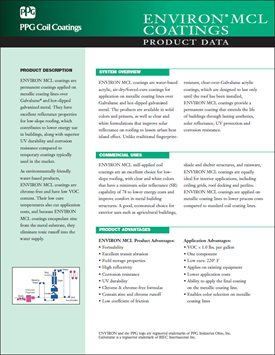 PPG debuts data sheet for ENVIRON MCL coatings - PPG